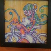Bike art at Taqueria Los Gorditos in SE Portland