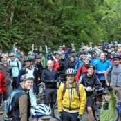 """At rally, Trail Alliance says Forest Park will remain a """"focal point"""""""