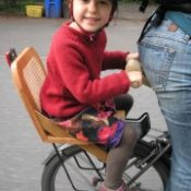 Reader DIY:  A wooden, rack mounted child seat