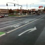 PBOT completes new bike lane across MLK at Burnside