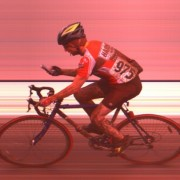 Cyclocross racer uses cell phone during race (Photo)