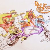 'Rat-Fiets': Ed Roth inspired bike art