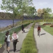 See what the South Waterfront Greenway trail will look like