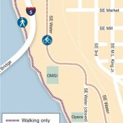 TriMet: Bikes will be detoured off Esplanade during light rail work – Updated