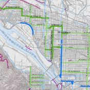 PBOT's map of potential 2012 neighborhood greenway projects