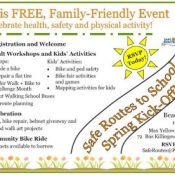 Safe Routes to School Spring Kick-Off this Saturday