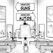 Friday Cartoon: Guns, cars and… justice?