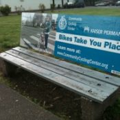 Non-profit brings 'I ride' campaign to bus bench ads