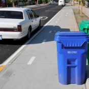 The trouble with trash cans on the Cully cycle track