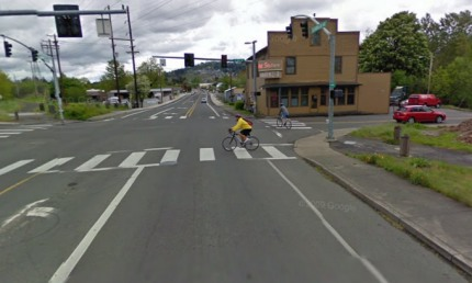 Bike Gallery Clackamas View looking east on SE