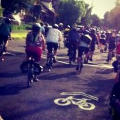 Hundreds roll out for Pedalpalooza Kickoff Ride