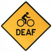 Local woman launches site to sell 'Deaf Cyclist' patches