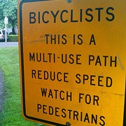 Editorial: Signs of traffic culture on paths vs. roads