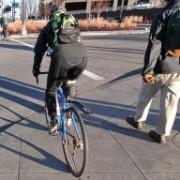 Bike Law 101: Take care when crossing the foot lane (a.k.a. sidewalk)