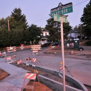 New greenway park under construction on NE Holman