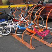 North Portland tiki bar goes for Easter Island themed bike parking