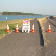 River levee work forces temporary closure of Marine Drive path