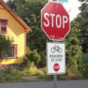 'Bikes Required to Stop' sign to be removed by City of Portland