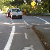 PBOT adds caution striping at dangerous SW Terwilliger intersection
