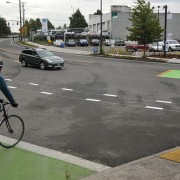 PBOT adds green box to help with crossing of N. Interstate