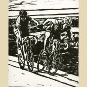 See bike-inspired linocuts by Amy Erickson in the Bikeasaurus gallery