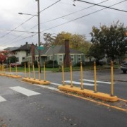 Going Street bike boulevard gets crossing help with new median