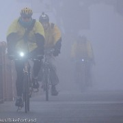 Photos: Riders in the fog