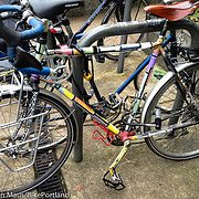 Locked Up: Colorful, quirky touring bike at NoPo Library