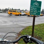 First Look: ODOT's new I-5/Delta Park bikeway signage