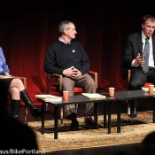 Mayoral hopefuls debate active transportation to sold-out crowd