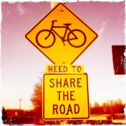 Someone thinks bikes need to share the road better in Vancouver