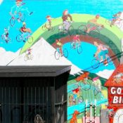 Introducing the new mural at Cyclone Bicycle Supply