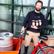 Old Town Pizza now brews beer, and will deliver it to you by bike