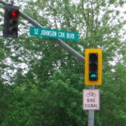 Springwater Corridor gets a new bike-only signal – UPDATED