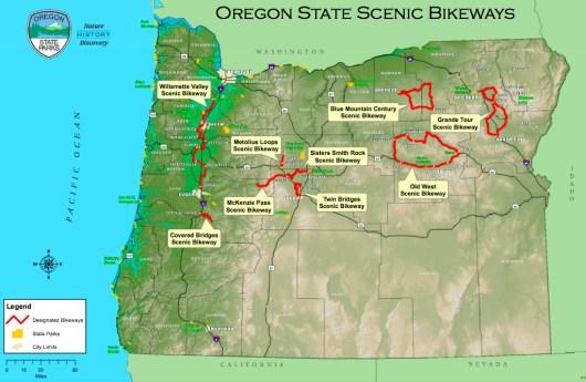 Two Wheels Spoken In Eastern Oregon As Bike Tourism Blooms - Eastern oregon map