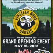 Einstein Bros says hello to Portland with free bagels for bikers