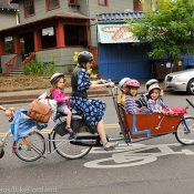 With six kids and no car, this mom does it all by bike