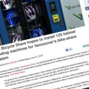Alta pitches helmet vending machines for Vancouver BC bike share