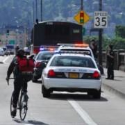 Police: Man pedaled into  back of parked TriMet bus on Burnside Bridge