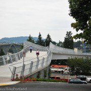 Riding the new – carfree – Gibbs Street Bridge