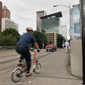 Portland makes bikes count on the Hawthorne Bridge