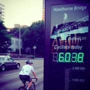 New bike counter tallies 7,432 Hawthorne Bridge bike trips on first day of operation