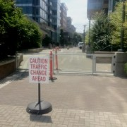 Riverfront condo owners install gate to restrict bike access