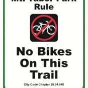 "Popular trail at Mt. Tabor Park now signed ""No Bikes"" – UPDATED"