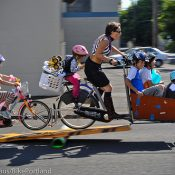 Family biking skills on display at 'Fiets of Parenthood'