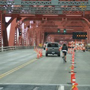 Bike traffic will get a real lane for remainder of Broadway Bridge project