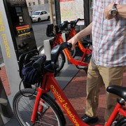"""Mia Birk of Alta Bicycle Share says Portland's system """"Will allow us to fulfill the 2030 vision"""""""