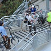 "PBOT: ""Major improvement"" for bikes coming to Gibbs Bridge stairs"