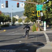 New signal on NE Lloyd gives bike riders a jump on other traffic