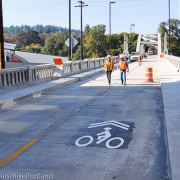 First look: Sharrows installed on historic Oregon City/West Linn Arch Bridge